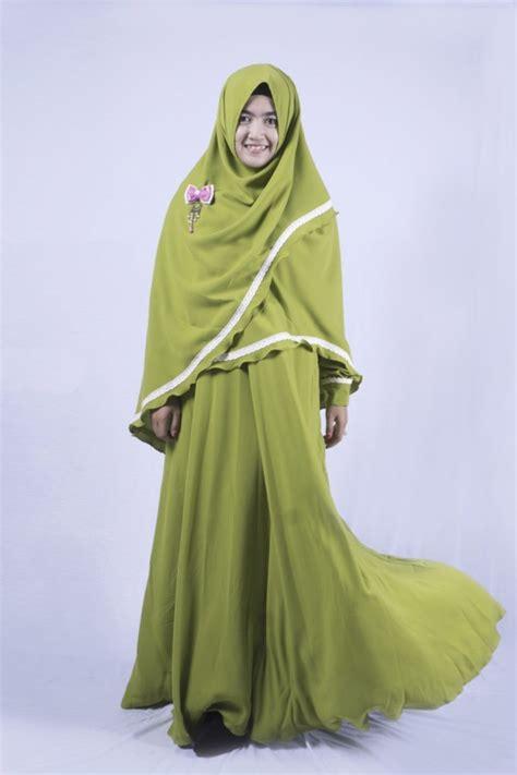 justmine hijau lumut adzkia hijab syari gamis syari