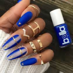 Ideas about blue nails on royal matte nail