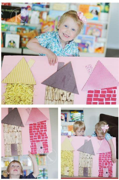 maisons 3 petits cochons 224 adapter pour petit th 233 atre contes artisanat