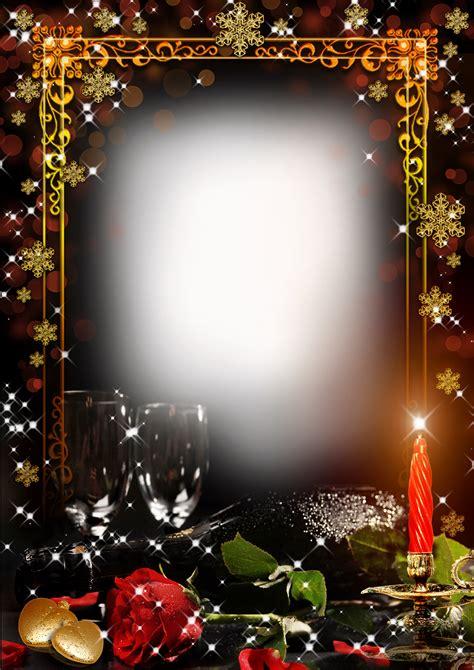 transparent clipart image frame romantic winter evening