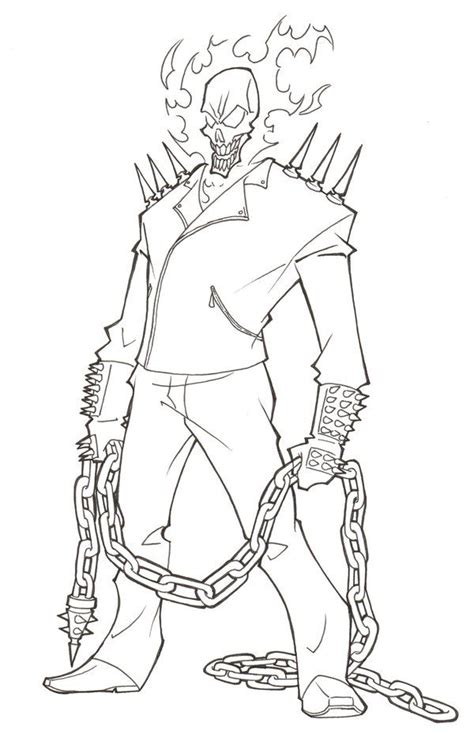 ghost rider coloring page coloring coloring pages