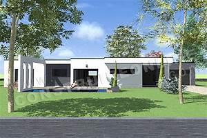 Maison Moderne Toit Plat : plan de maison contemporaine anaby ~ Nature-et-papiers.com Idées de Décoration