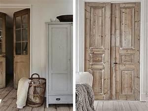Aux Portes De La Deco : porte en bois brut d shabillez vos portes anciennes ~ Nature-et-papiers.com Idées de Décoration