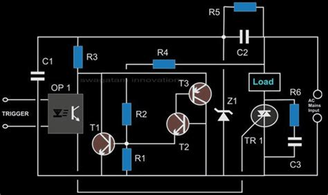 Solid State Relay Circuit Using Triacs Zero Crossing