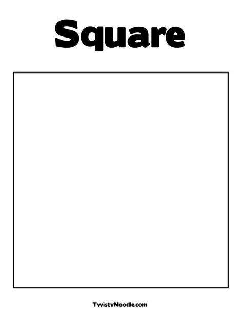 square coloring page  twistynoodlecom preschool