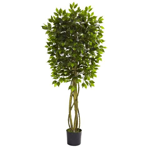 5 5 silk ficus tree uv resistant indoor outdoor artificial trees silk trees