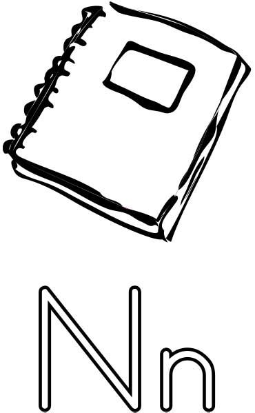 notebook coloring page printable worksheets  kids