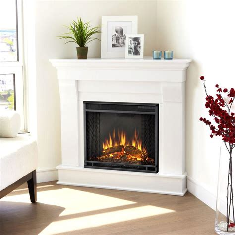 home depot gas fireplace real chateau 41 in corner electric fireplace in