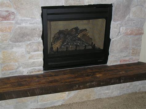 Rustic, Reclaimed Wood Fireplace Hearth   Antique Woodworks