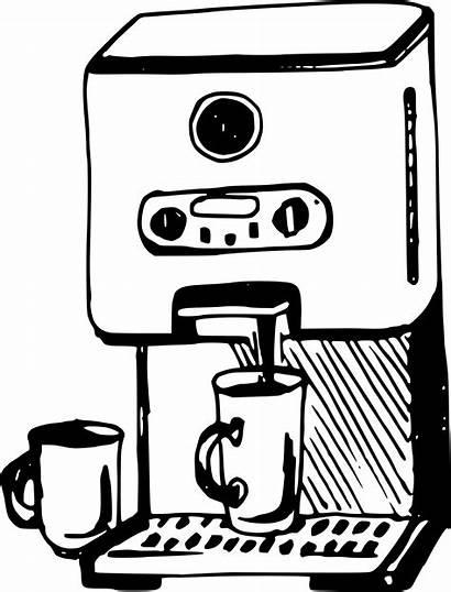 Coffee Machine Clipart Maker Drawing Pot Svg