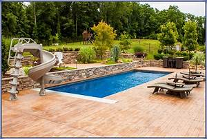 Deck ideas around inground pools joy studio design for Inground swimming pool designs ideas