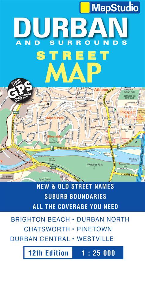 durban map street surrounds edition previous mapstudio za