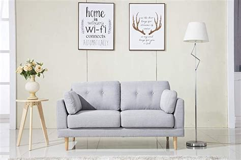 Divano Roma Mid Century Modern Fabric Sofa