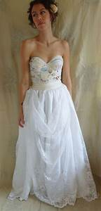 meadow bustier wedding gown dress boho whimsical With bustier for wedding dress