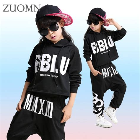2017 Fashion Children Jazz Dance Clothing Boys Girls Street Dance Hip Hop Dance Costumes Kids ...