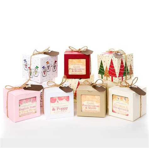 set of three soaps christmas gift box by the bakewell soap