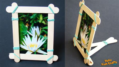 popsicle stick picture frame youtube