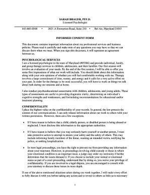 fillable informed consent form psychology edit online