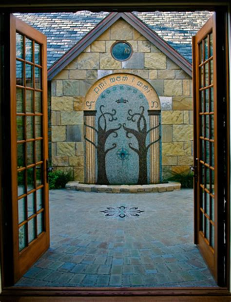 archetile commissioned work doors of durin fountain