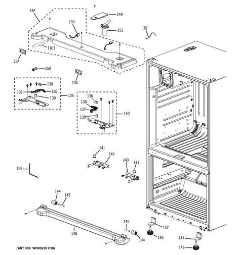 ge pfsfpkxeww bottom mount refrigerator parts sears partsdirect