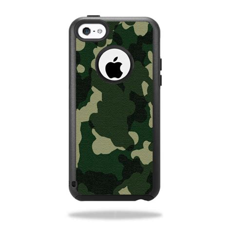 skin decal wrap for otterbox commuter iphone 5c green