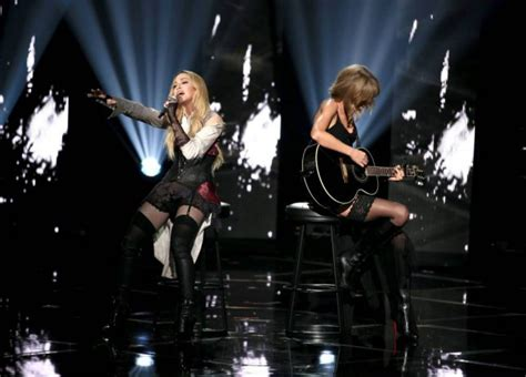 Madonna avoids another fall during duet with Taylor Swift ...