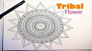 Draw A Tribal/Aztec Mandala Flower For Beginners - Part 1 ...