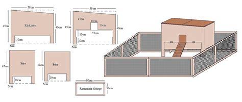 bauplan für hasenstall bauanleitung hamsterk 228 fig 187 bauplan