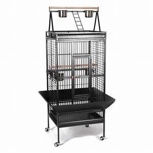 Cage A Perroquet : cage pour perroquet gris du gabon amazone cacatoes youyou ~ Teatrodelosmanantiales.com Idées de Décoration