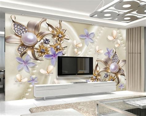 beibehang wall paper home decor european style pearl