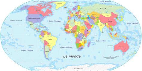 Carte Du Monde Francais by Carte Du Monde En Fran 231 Ais 187 Carte Du Monde