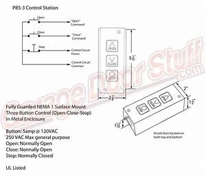 Overhead Door Open Close Stop Control