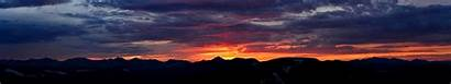 Triple Monitor Dusk Nature Wallpapers Mountains Mountain