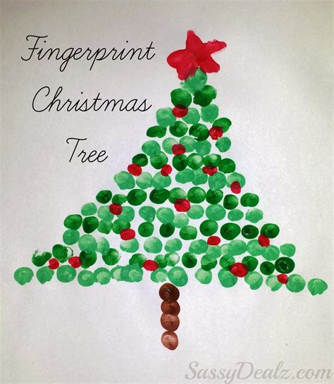 christmas projects christmas fingerprint crafts u create