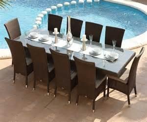 Table Et Chaise De Jardin En Resine Tressee Encastrable by Table Et Chaises Havana 10 Places 224 1299 Livraison Gratuite