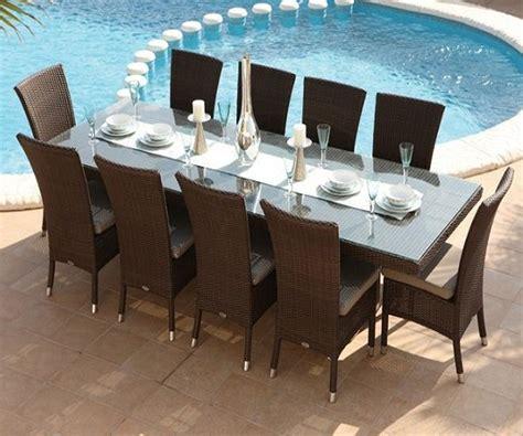 chaise de jardin en résine tressée table et chaises 10 places à 1299 livraison gratuite