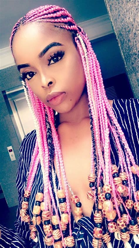 Pink Tribal Braids With Beads Unicorn Braided