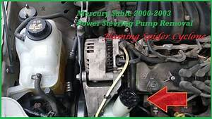 Power Steering Pump Removal  Mercury Sable 2000-2003