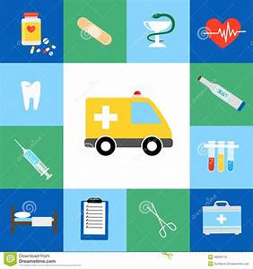 Set Of Medical Flat Icons Stock Vector