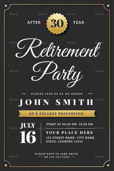 retirement invitation template gold retirement invitation flyer templates by vector vactory graphicriver