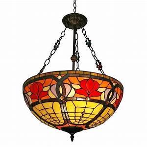 Amora lighting light tiffany style ceiling hanging