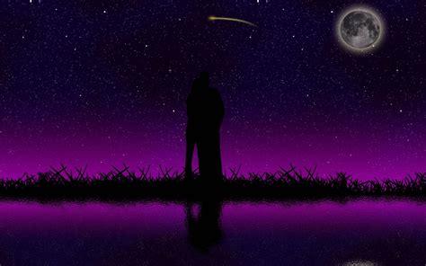 fondo escritorio noche estrellada  amor