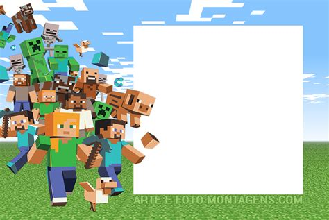 molduras  foto minecraft personagens  p