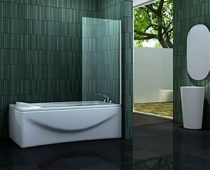 Badewanne Mit Glas : esta 70 x 140 cm badewannen duschwand glas duschabtrennung ~ Michelbontemps.com Haus und Dekorationen