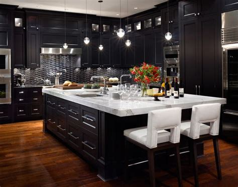 black kitchen lighting 21 ways to make a bold statement with black kitchen cabinets 1694