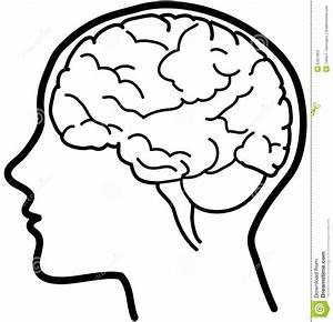 Vector brain icon bw stock vector. Illustration of ...