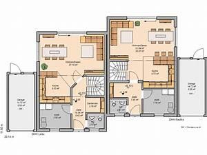 Bauen Zweifamilienhaus Grundriss : h user kern haus doppelhaush lfte und erdgeschoss ~ Lizthompson.info Haus und Dekorationen