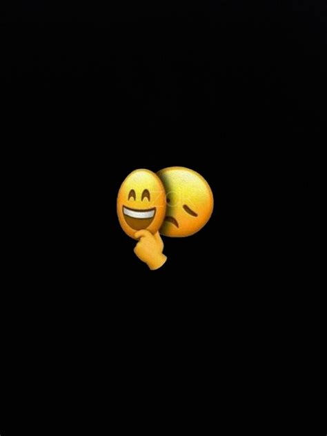 Emoji Relationship Broken Iphone Black Emoji Wallpaper by Zara Afreen Khan Many Many Emoji In 2019 Fond