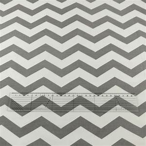 Grey and White Wave 100% Cotton Fabric - The Little Fabric ...