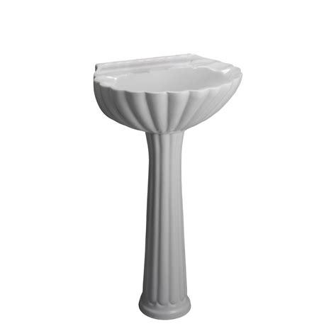 barclay hshire pedestal sink shop barclay bali 35 37 in h white vitreous china pedestal